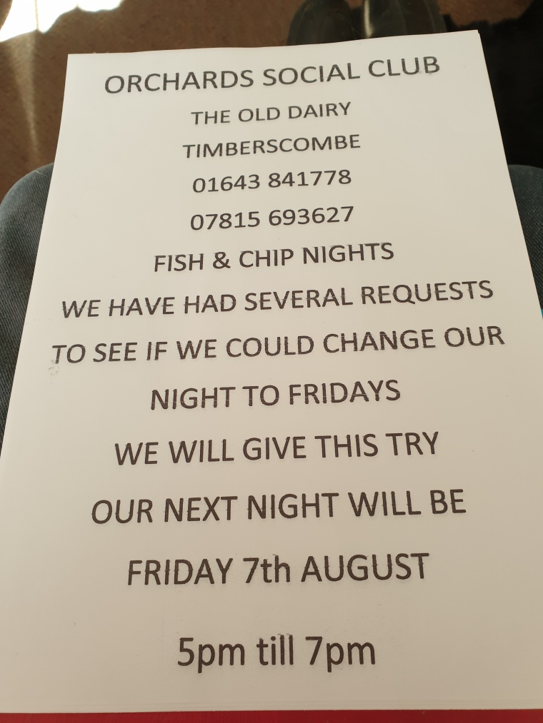 Fish and Chip Night poster