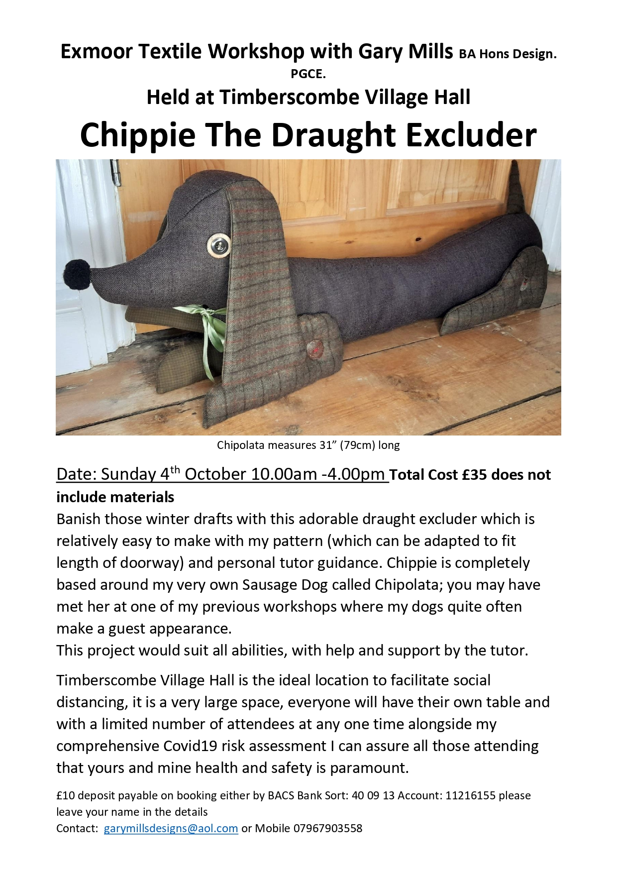 Chippie the Draught Excluder poster