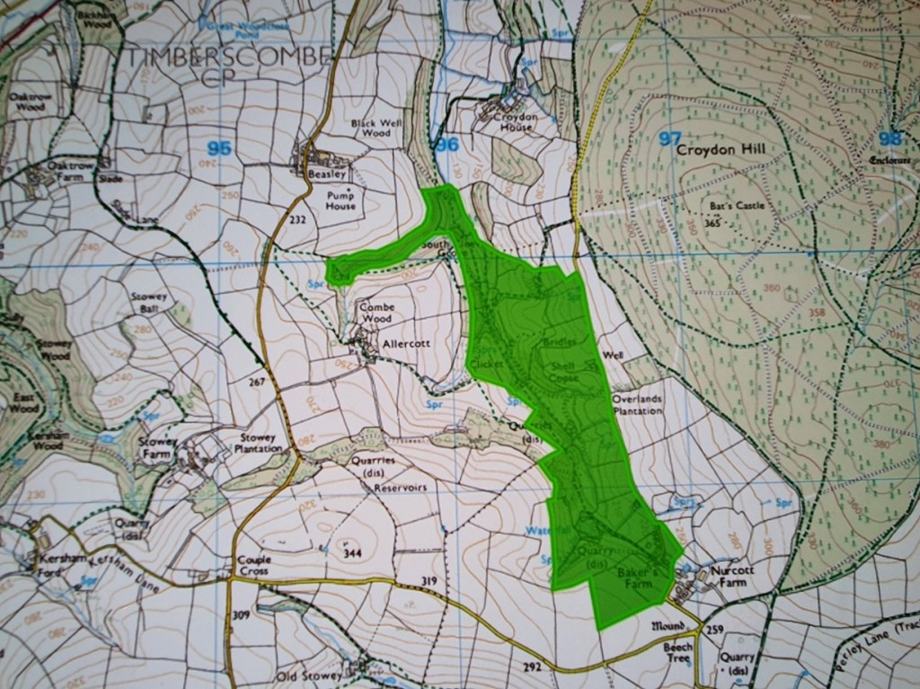 Map -HER for ENP (grid ref SS 9626 3950 map sheet SS93NE)