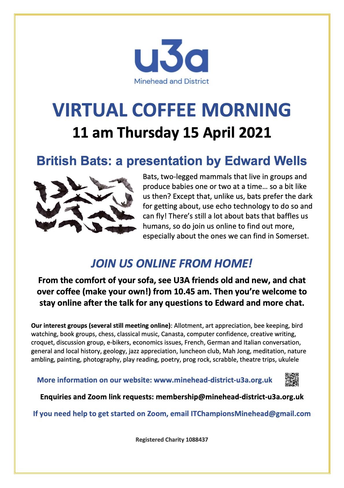 U3A Coffee Morning Poster April 2021