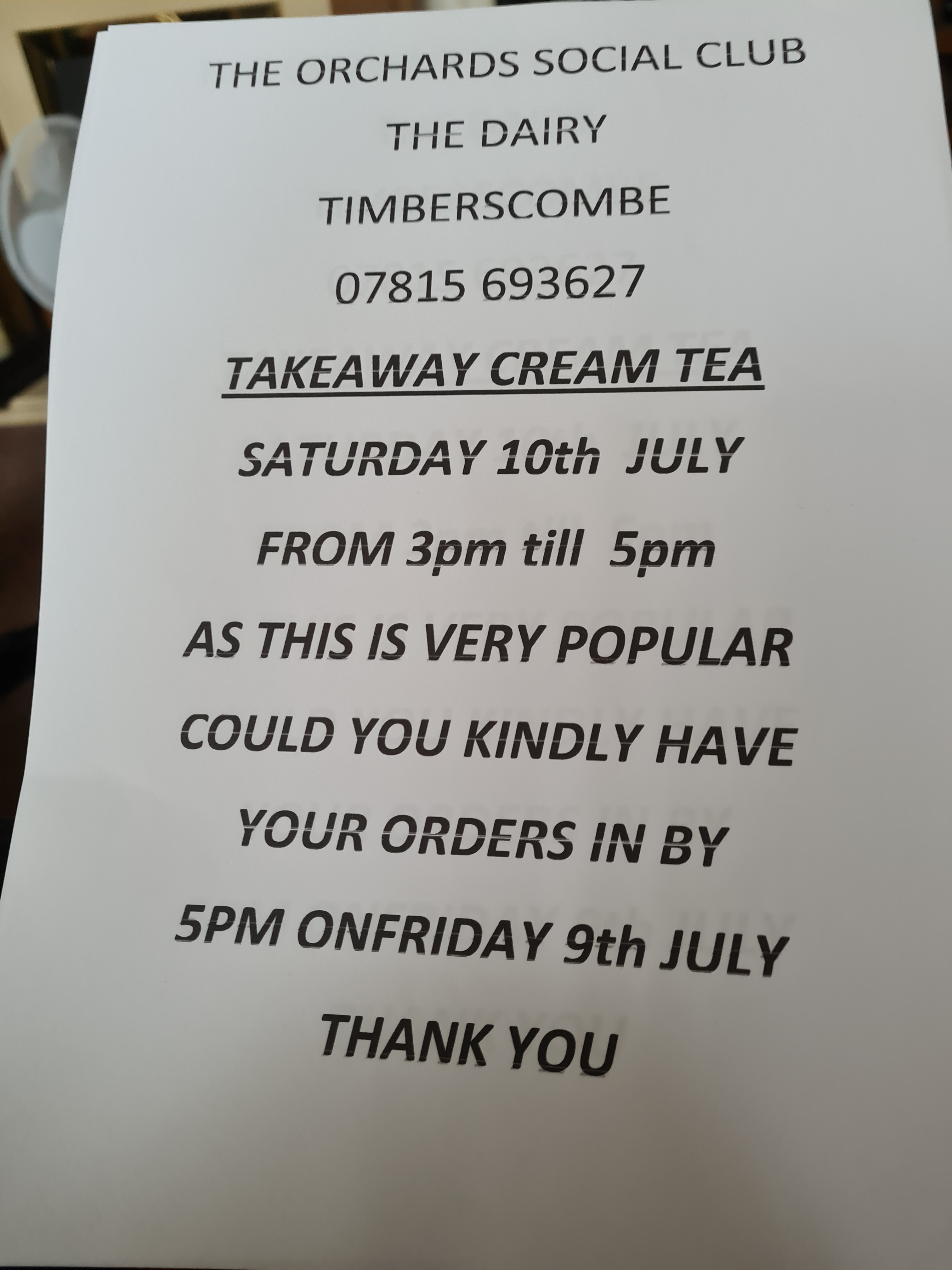 Cream Tea Advert