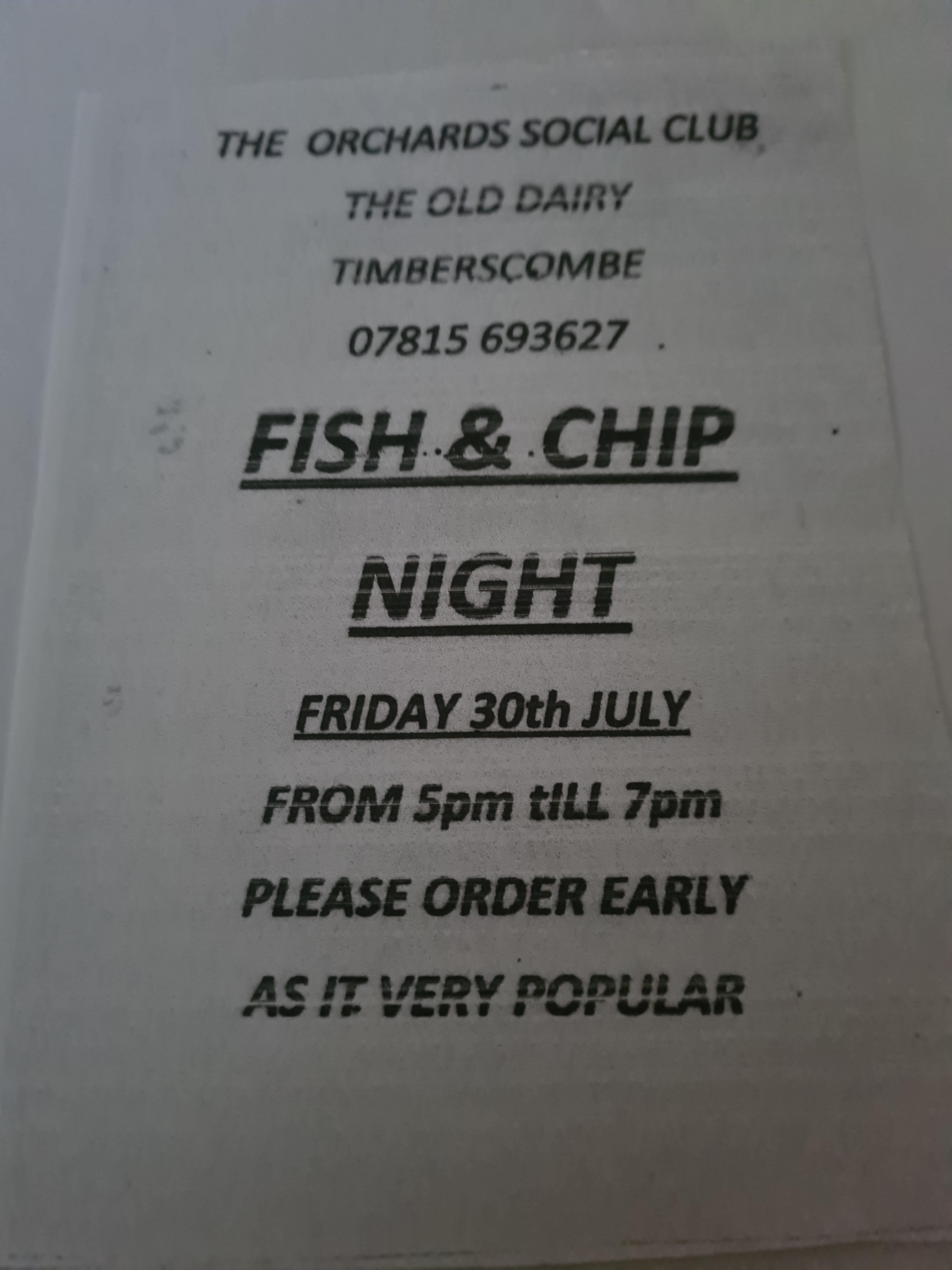 Fish and Chip Night
