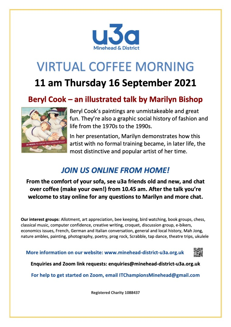 U3A Coffee Morning Poster September 2021